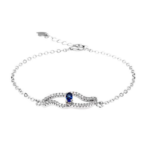 bracelet femme argent zirconium 9500176