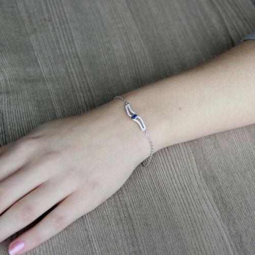 bracelet femme argent zirconium 9500177 pic4