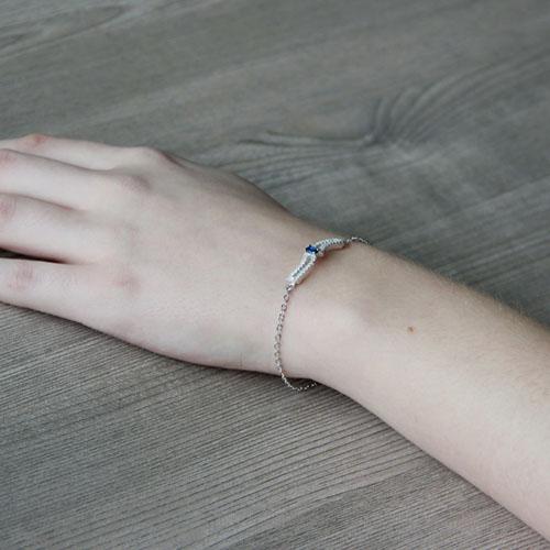 bracelet femme argent zirconium 9500177 pic5