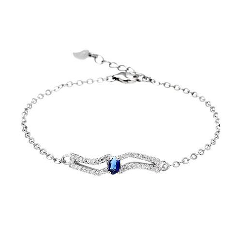 bracelet femme argent zirconium 9500177