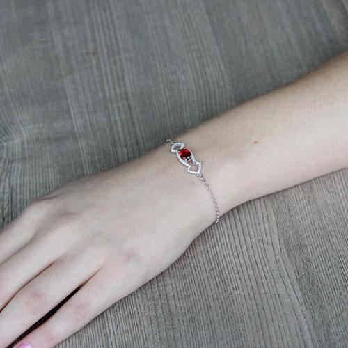 bracelet femme argent zirconium 9500178 pic4