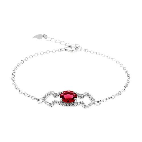 bracelet femme argent zirconium 9500178