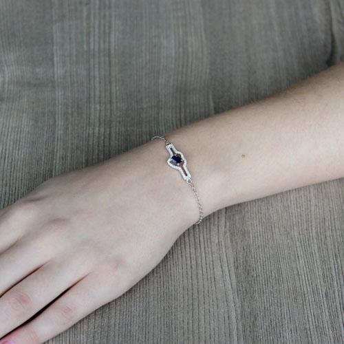 bracelet femme argent zirconium 9500179 pic4