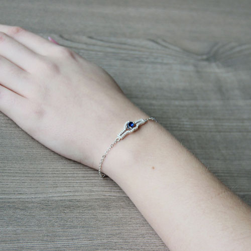 bracelet femme argent zirconium 9500179 pic5