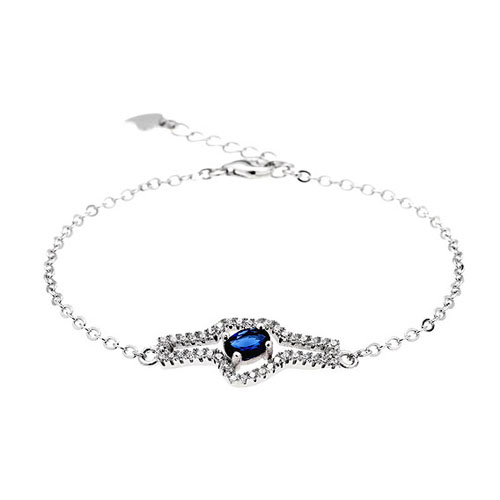 bracelet femme argent zirconium 9500179