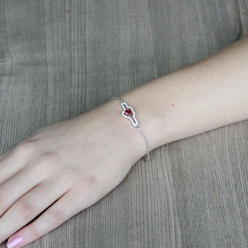 bracelet femme argent zirconium 9500180 pic4