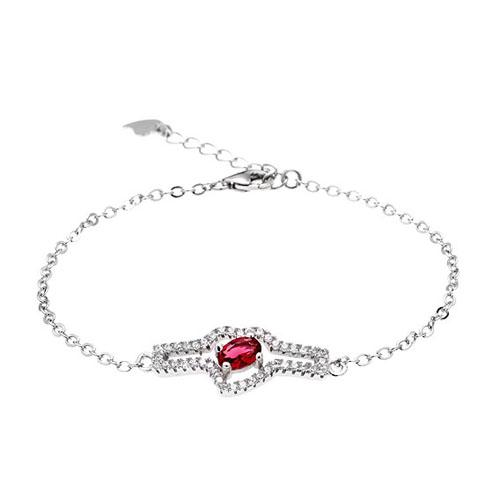 bracelet femme argent zirconium 9500180