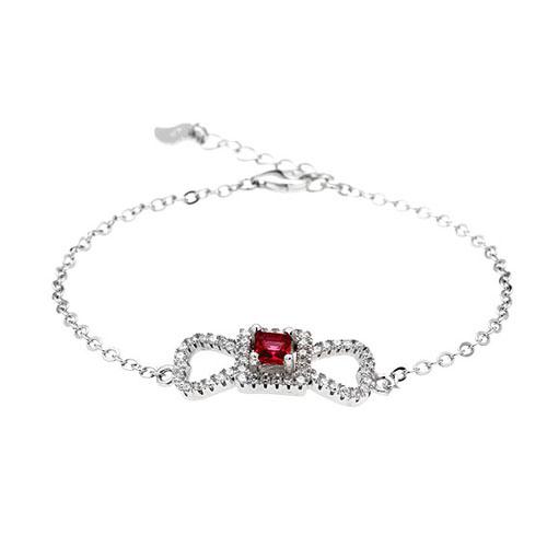 bracelet femme argent zirconium 9500181