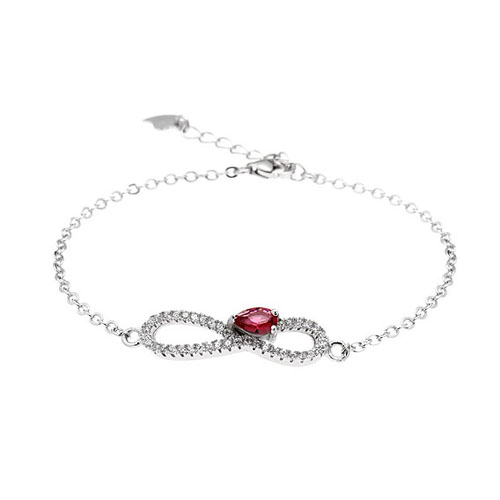 bracelet femme argent zirconium 9500182