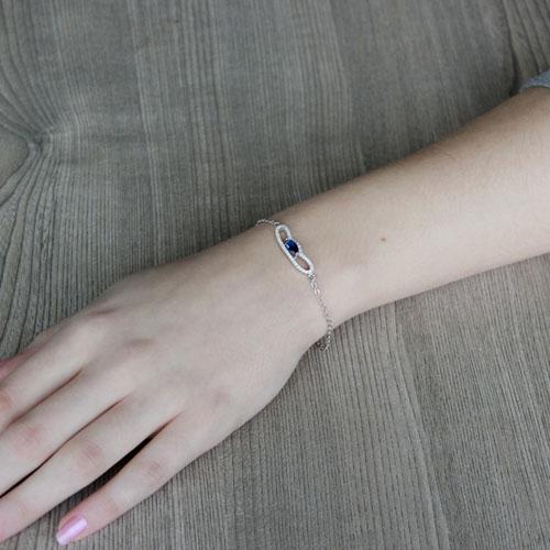 bracelet femme argent zirconium 9500183 pic4