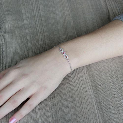 bracelet femme argent zirconium 9500184 pic4