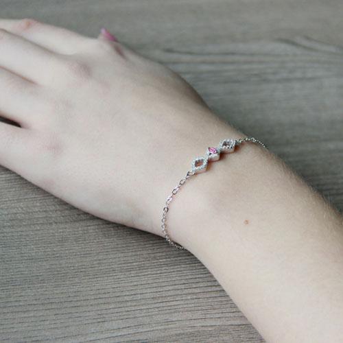 bracelet femme argent zirconium 9500184 pic5