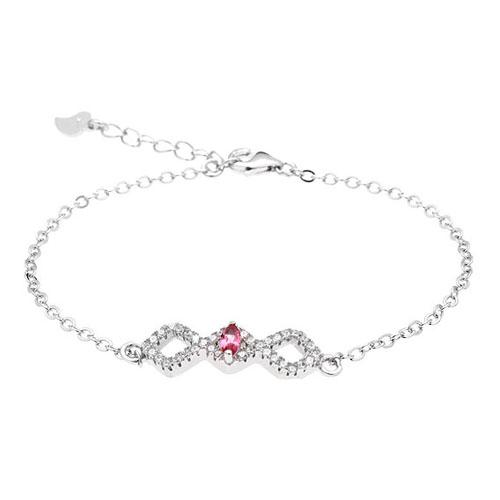 bracelet femme argent zirconium 9500184