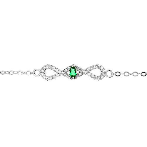 bracelet femme argent zirconium 9500185 pic2