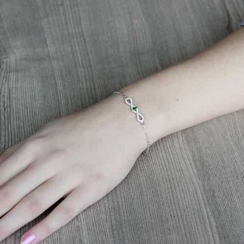 bracelet femme argent zirconium 9500185 pic4