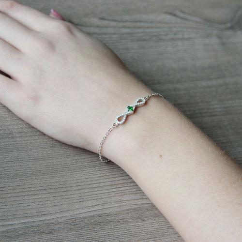 bracelet femme argent zirconium 9500185 pic5