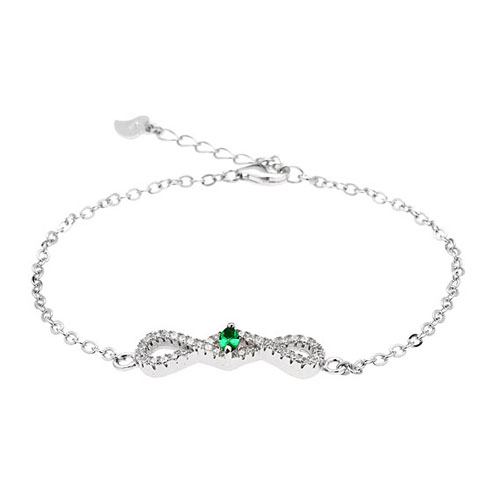 bracelet femme argent zirconium 9500185