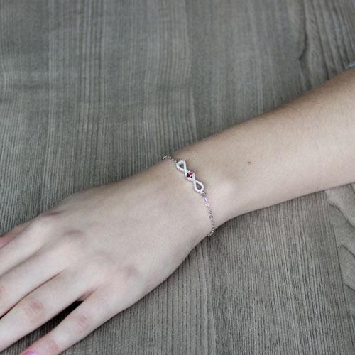 bracelet femme argent zirconium 9500186 pic4