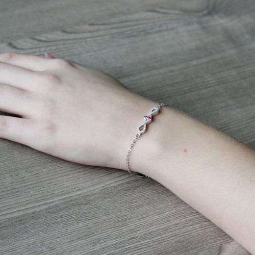 bracelet femme argent zirconium 9500186 pic5