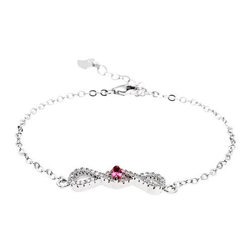 bracelet femme argent zirconium 9500186