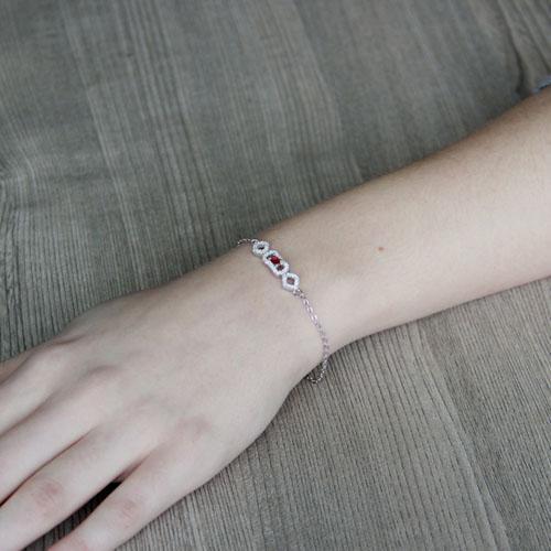 bracelet femme argent zirconium 9500187 pic4