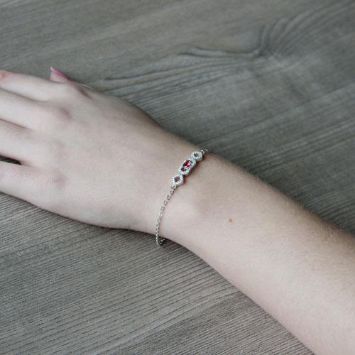 bracelet femme argent zirconium 9500187 pic5