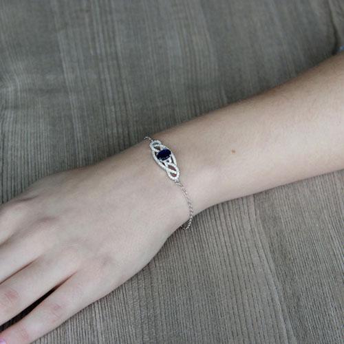 bracelet femme argent zirconium 9500188 pic4