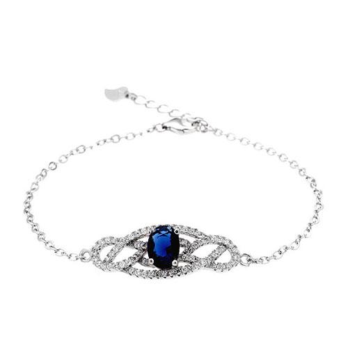 bracelet femme argent zirconium 9500188