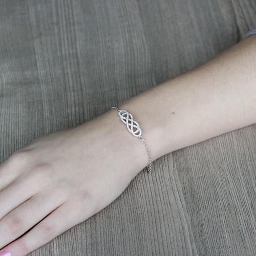 bracelet femme argent zirconium 9500189 pic4