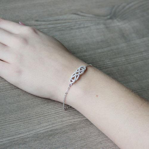 bracelet femme argent zirconium 9500189 pic5