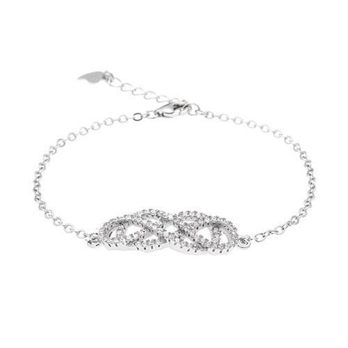 bracelet femme argent zirconium 9500189