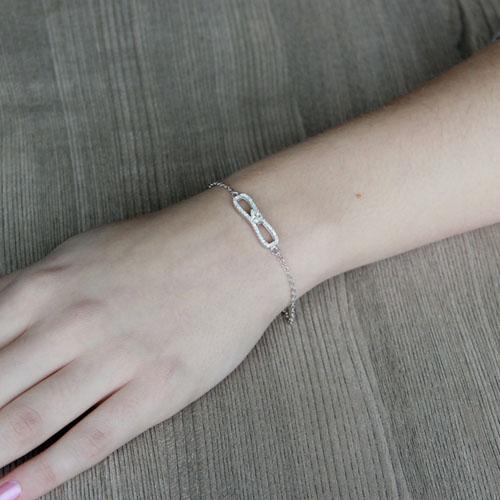 bracelet femme argent zirconium 9500190 pic4