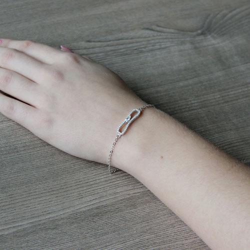 bracelet femme argent zirconium 9500190 pic5