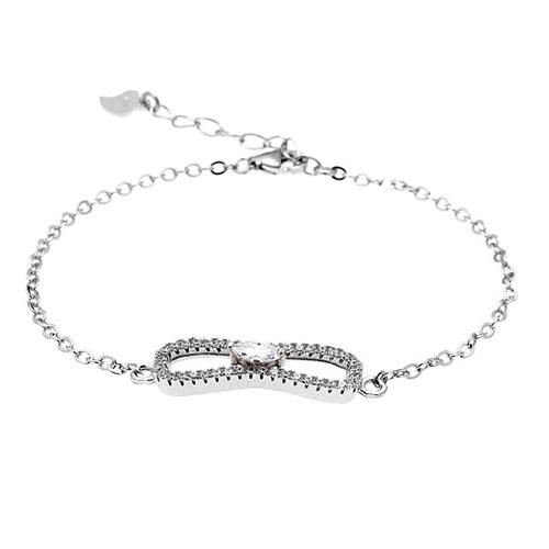 bracelet femme argent zirconium 9500190