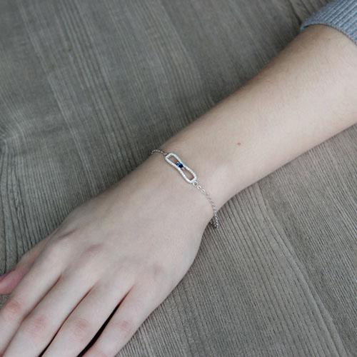 bracelet femme argent zirconium 9500191 pic4