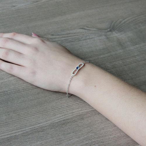 bracelet femme argent zirconium 9500191 pic5