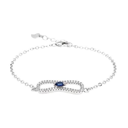 bracelet femme argent zirconium 9500191