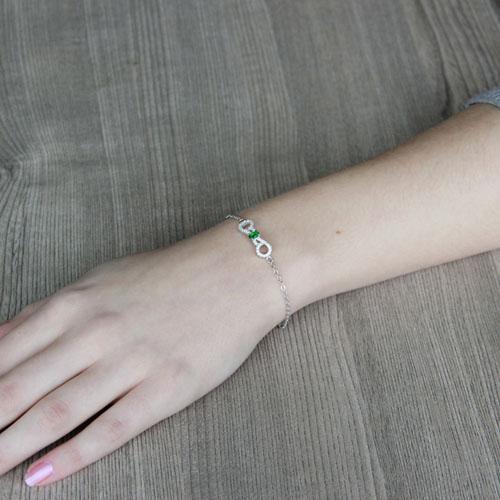 bracelet femme argent zirconium 9500193 pic4