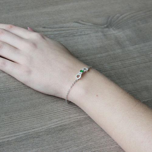 bracelet femme argent zirconium 9500193 pic5