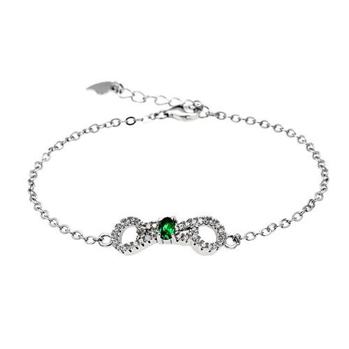 bracelet femme argent zirconium 9500193