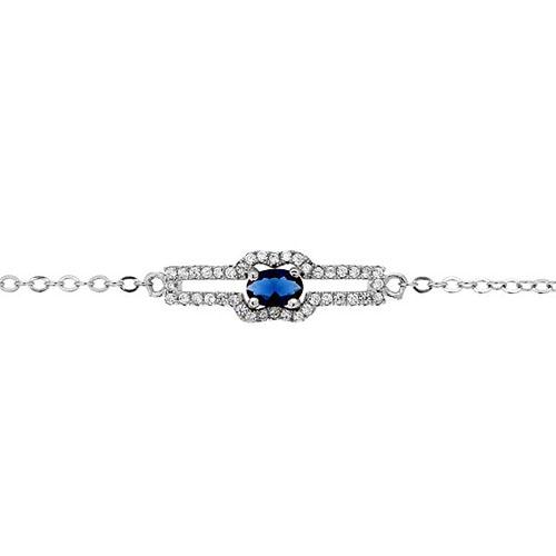 bracelet femme argent zirconium 9500194 pic2