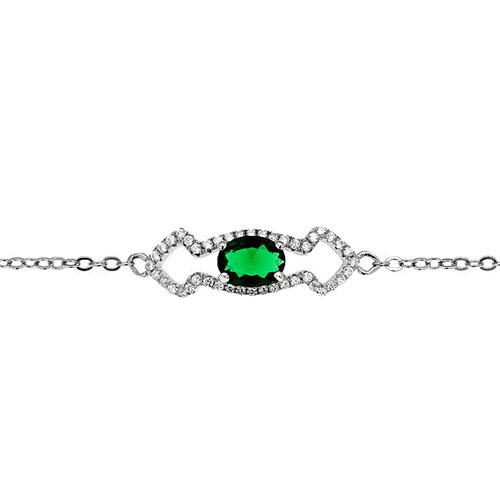 bracelet femme argent zirconium 9500195 pic2