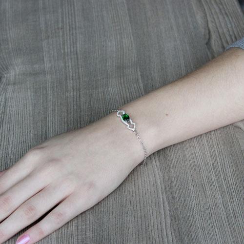 bracelet femme argent zirconium 9500195 pic4