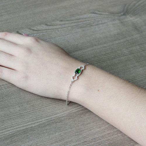 bracelet femme argent zirconium 9500195 pic5