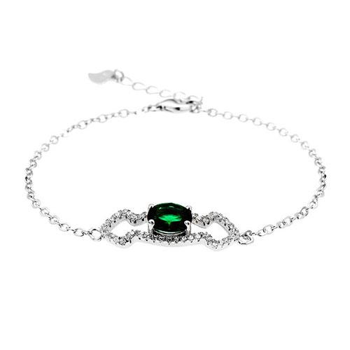 bracelet femme argent zirconium 9500195