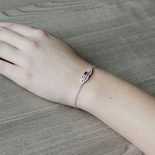 bracelet femme argent zirconium 9500196 pic5