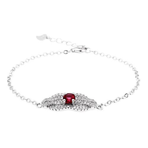 bracelet femme argent zirconium 9500196