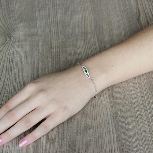 bracelet femme argent zirconium 9500198 pic4