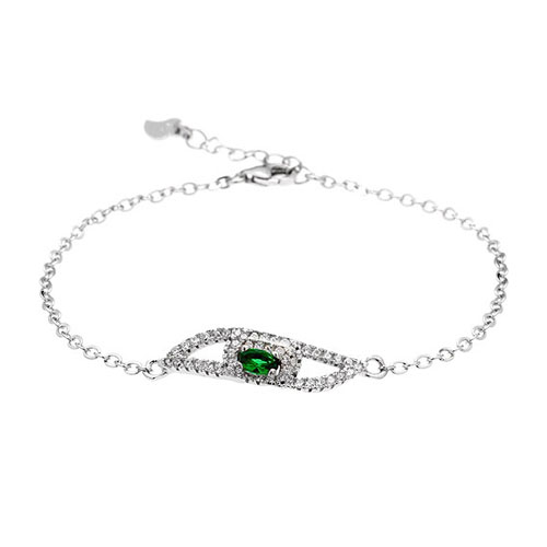 bracelet femme argent zirconium 9500198