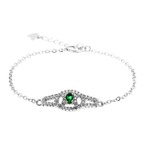 bracelet femme argent zirconium 9500200